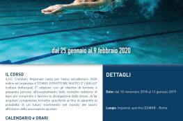 Corso istruttore nuoto 1   Livello ASC LAZIO
