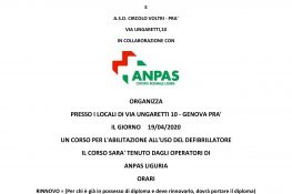 Corso abilitazione all uso del defibrillatore - ASC Genova