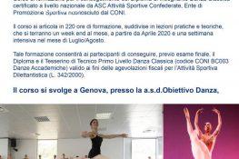 Corso formazione Insegnante Danza Classica - ASC  Genova