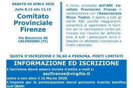 Corso BLSD - Comitato ASC di Firenze