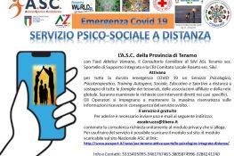 ASC Teramo attiva sportello psicologico integrato a distanza