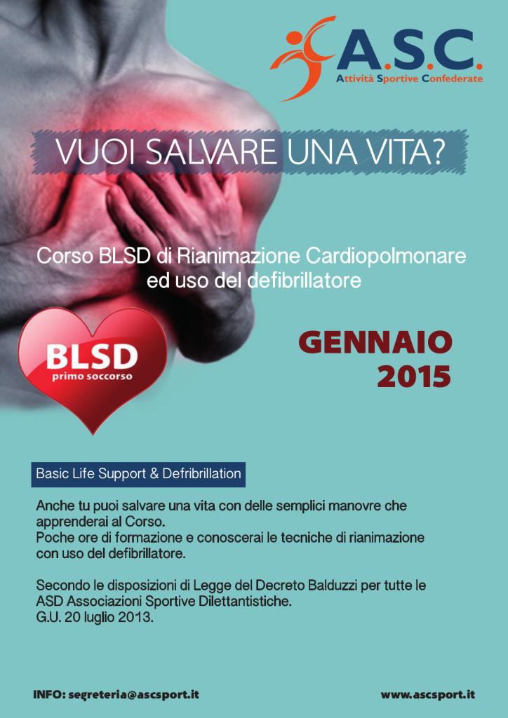 Si accettano iscrizioni al Corso BLSD di Rianimazione Cardiopolmonare e uso del defibrillatore