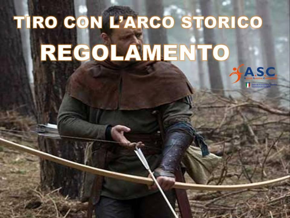 REGOLAMENTO TIRO CON L ARCO STORICO