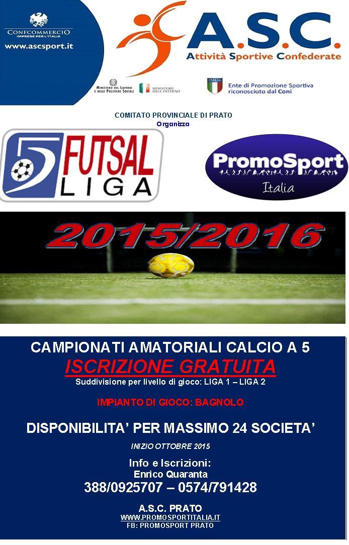 Campionati Amatoriali C 5 e C 7 S S  2015 2016