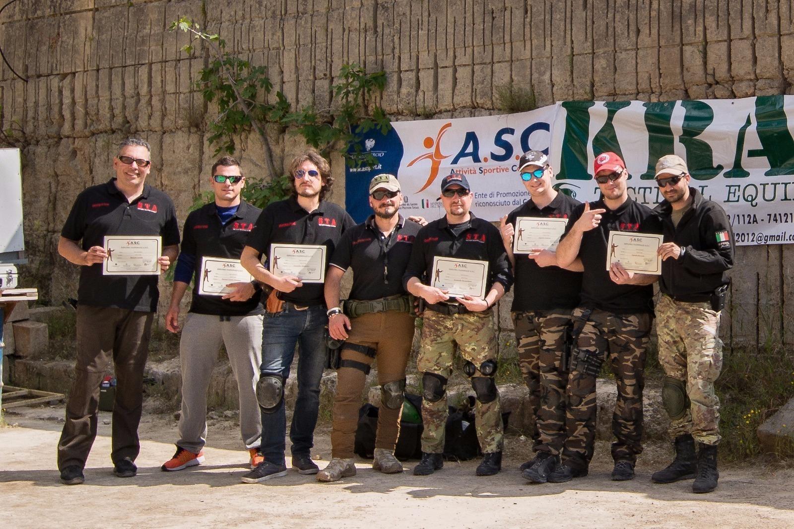 Rilasciate le prime qualifiche nazionali di    Istruttori di Tiro Dinamico    - A S C  di Taranto e Brindisi