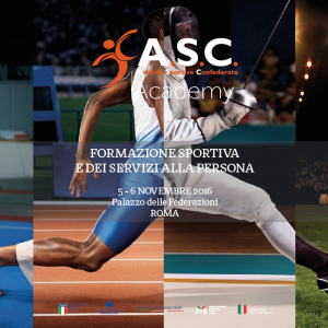 """CHIUSE LE ISCRIZIONI AL CORSO """"I° Week end di formazione sportiva e dei servizi alla persona"""""""