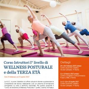 Corso Istruttori I° livello di Wellness Posturale e della Terza Età A.S.C.