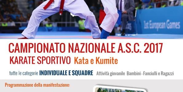 Campionato Nazionale Karate Sportivo A.S.C. 2017