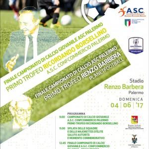 """Finale del campionato di calcio giovanile A.S.C. Palermo –  Primo Trofeo """"Ricordando Borsellino"""""""