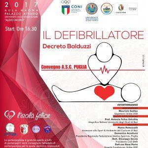 """Convegno ASC Puglia: """"IL DEFIBRILLATORE"""" Decreto Balduzzi"""