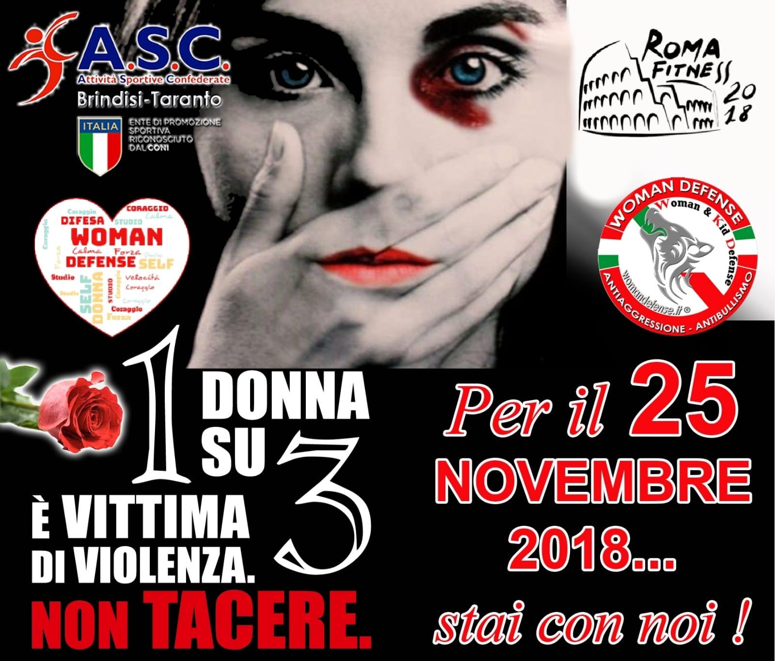 Giornata internazionale per l  039 eliminazione della violenza contro le donne ASC BRINDISI