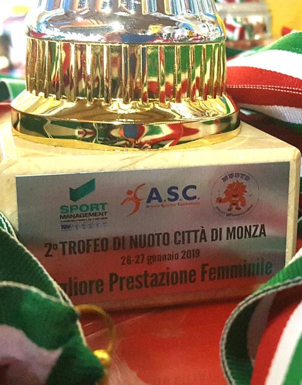 Seconda edizione del trofeo di nuoto    Citt   di Monza    ASC-SPORT MANAGEMENT
