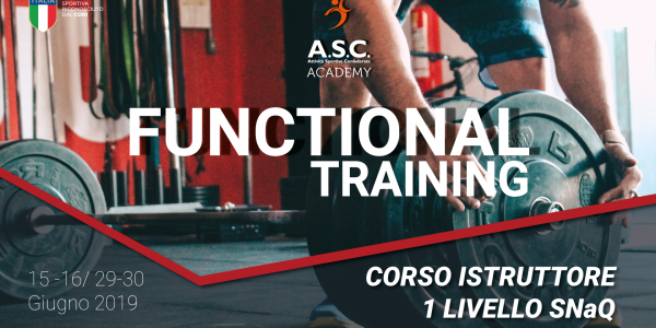 FUNCTIONAL TRAINING – Corso istruttore 1 livello ginnastica finalizzata alla salute e al fitness