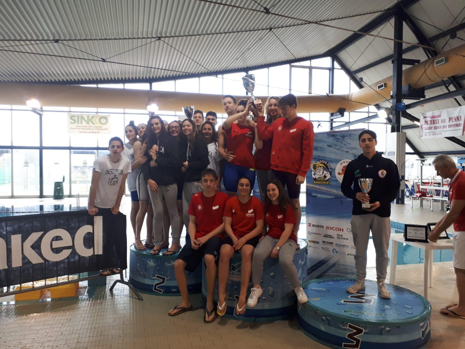 Al meeting    Lago di Garda    di Desenzano i nuotatori della Sport Management vincono entrambe le classifiche per societ