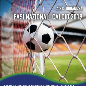 ASC organizza FASI NAZIONALI CALCIO 2019