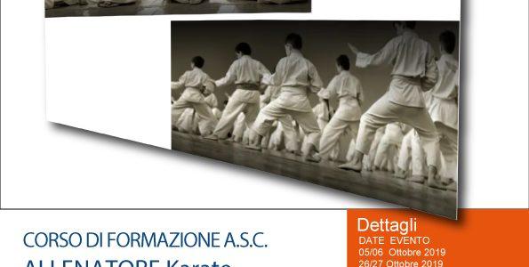 Corso di Allenatore Karate ASC ACADEMY LAZIO