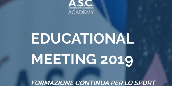 EDUCATIONAL MEETING 2019 – Formazione Continua per lo Sport