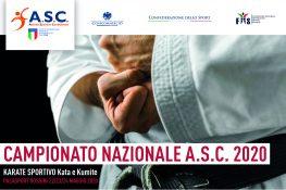 Campionato Nazionale ASC 2020 - Area Karate Sportivo