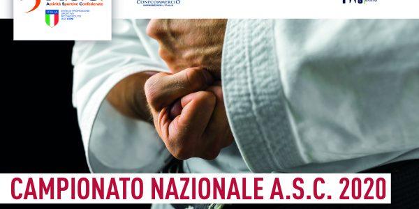 Campionato Nazionale ASC 2020 – Area Karate Sportivo
