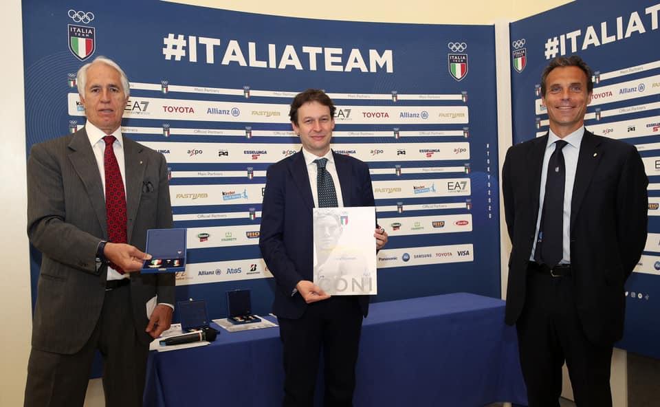 Il Presidente ASC Luca Stevanato riceve la prestigiosa onorificenza della Stella D oro al Merito Sportivo