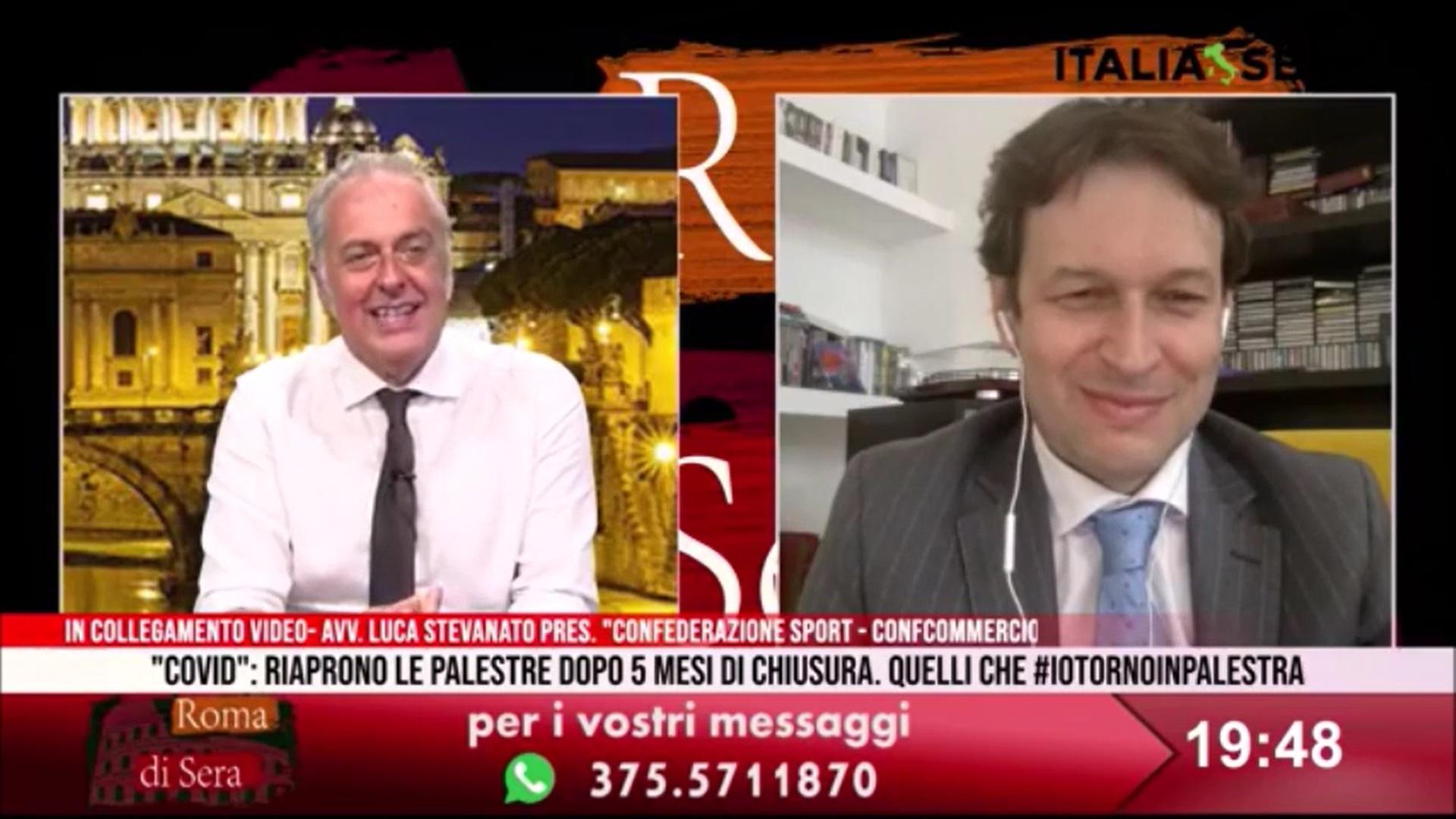 Riaperture e ripartenza - Il Presidente Luca Stevanato ospite a Roma di Sera