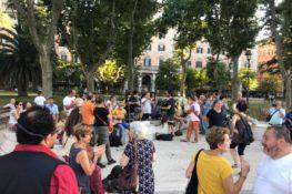 Piazza della Salute in festa aspettando gli Azzurri